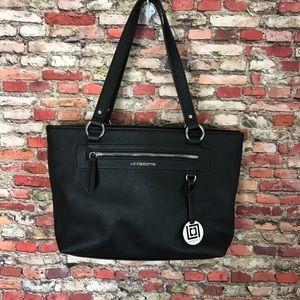Liz Claiborne Black Satchel Leather Bag